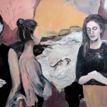Underdog, original painting, oil on canvas